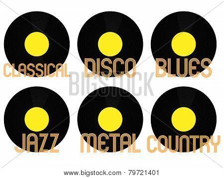 Music Genres Vinyl
