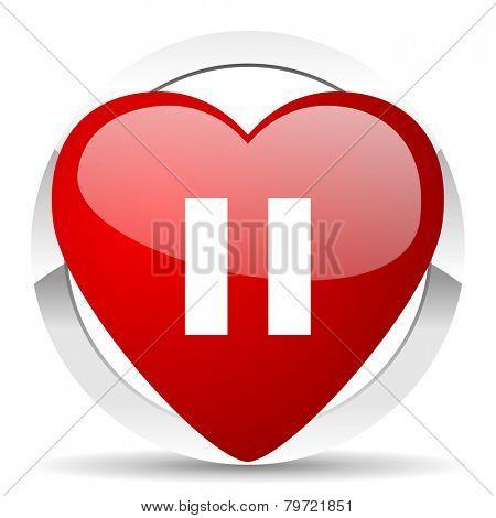 pause valentine icon