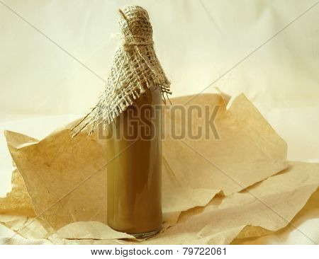 bottle with healthy tincture. Herbal medicine