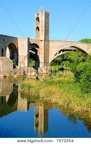 Medieval Bridge In Besalu, Spain