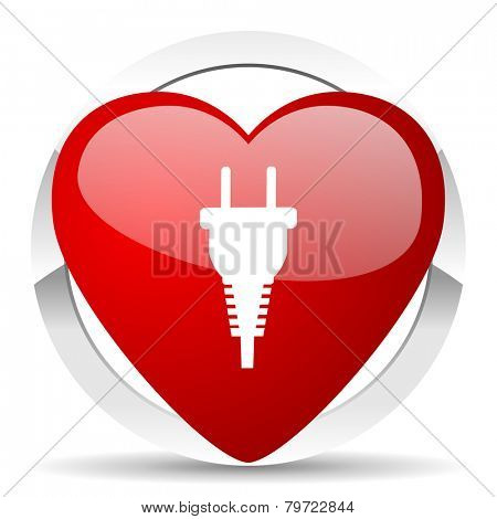 plug valentine icon electric plug sign