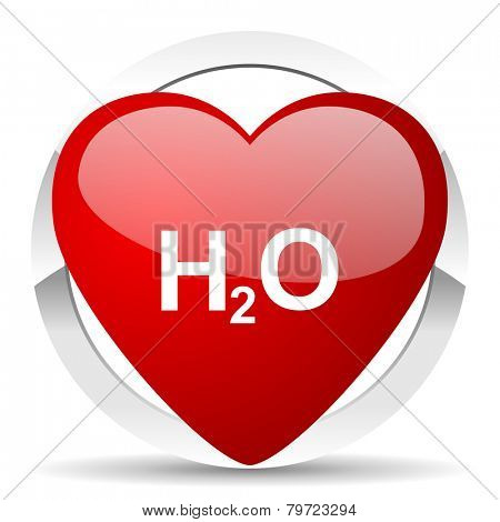 water valentine icon h2o sign