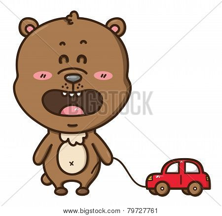 Kawaii bear_with car