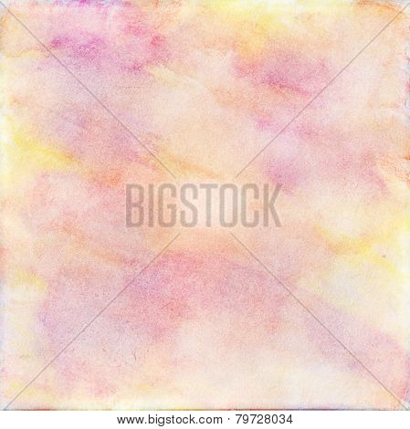 Yellow,  Purple And  Pink Watercolor Background