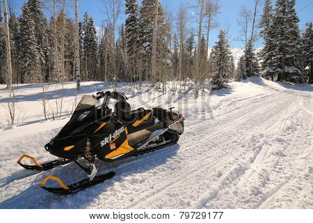 Snowmobiling...