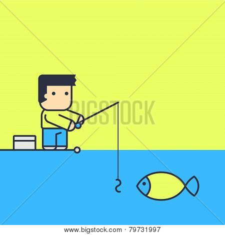Fisherman With Fish