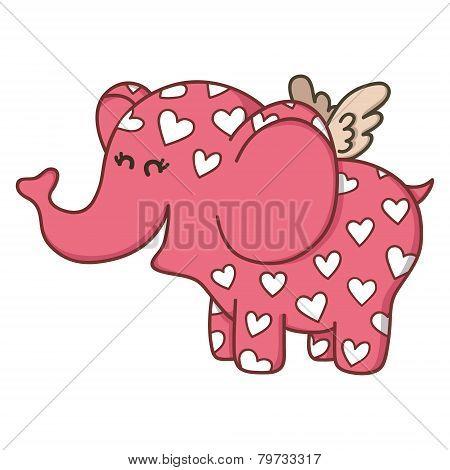 Funny elephant love