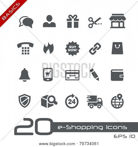 e-Shopping Icons // Basics