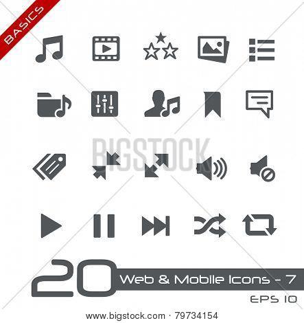 Web & Mobile Icons - 7 // Basics