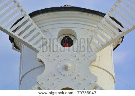 Lighthouse - Windmill Against The Sky - Swinoujscie