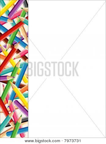 Colored Pencils Side Frame