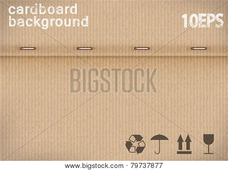 cardboard background with the clips.vector illustration