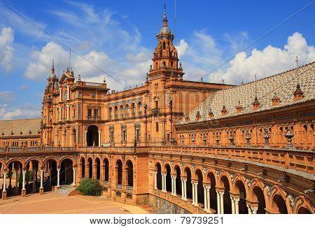Seville, Andalusia,Spain, Plaza de Espana.