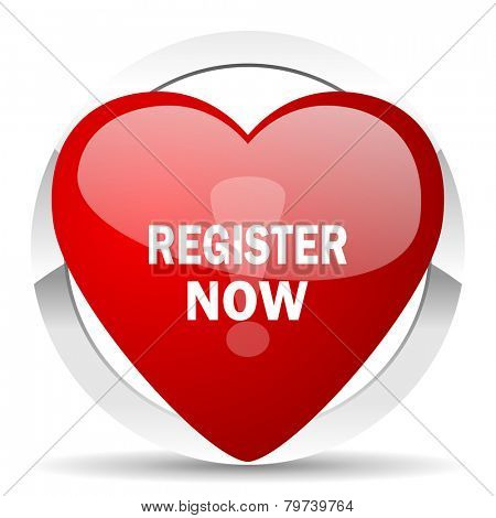 register now valentine icon
