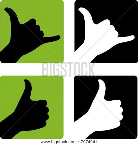 Shaka and Thumbs Up Gestures