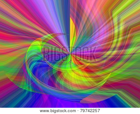 rainbow color abstract swirl for background