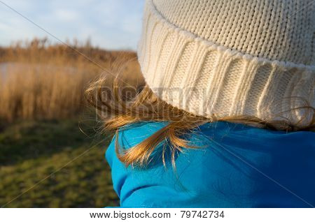 Girl Dressed For Winter Closeup