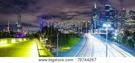 Panoramic view of a modern city