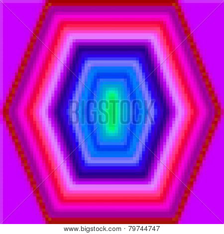 A Pixels colorful pink pentagon pattern background