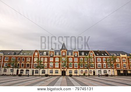 Market Square In Fredericia City, Denmark