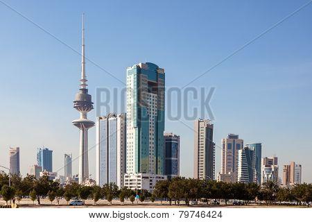 Skyline Of Kuwait Downtown