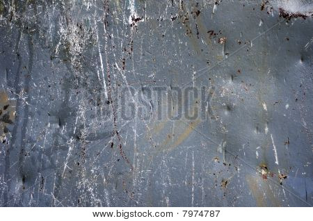 Scratched Gray Metal Grunge Texture