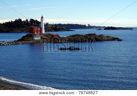 Shore view of Fisgard Lighthouse