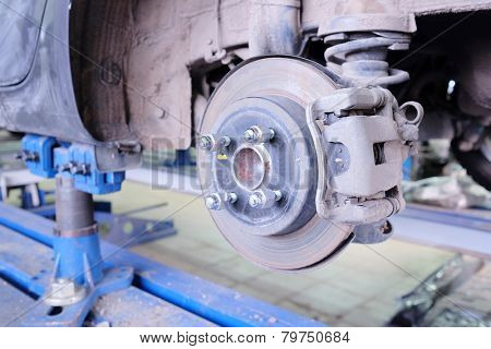 Brake disk and caliper assembly