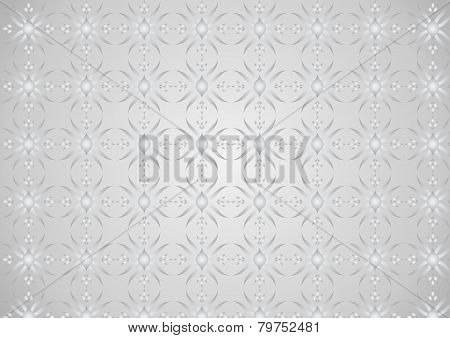 Silver Modern Flower And Rhomboid And Circle Pattern On Pastel Background