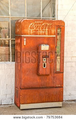 Old, Rusty Coca-cola Machine