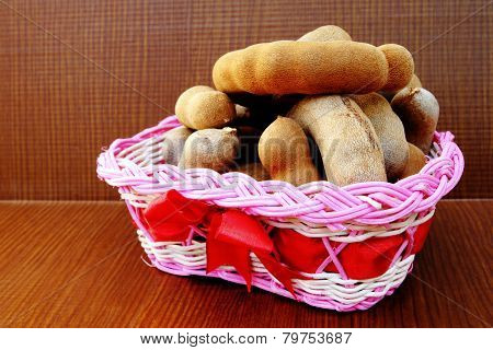 Tamarind In Pink Basket