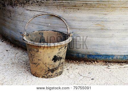 Dirty Plastic Bucket