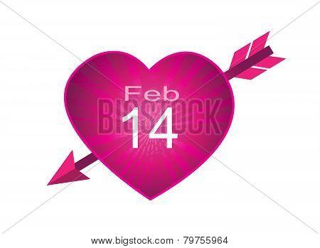 Valentine's Day February fourteen icon