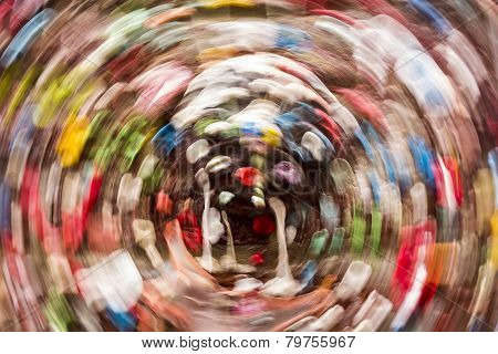 Gum Wall Background With Circular Motion Blur