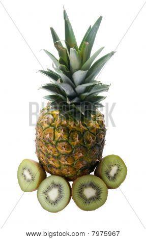 Pineapple And Kiwi Fruit