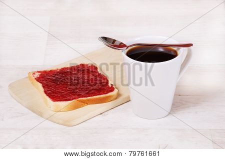 Breakfast Toast And Coffee Cup