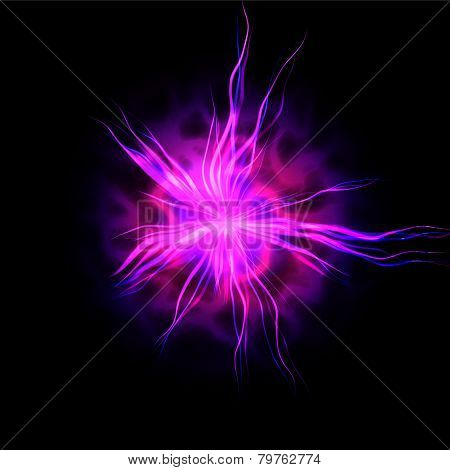 Pink electric discharge - computer generated abstract background