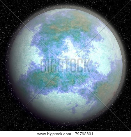Fantasy planet after the global cooling