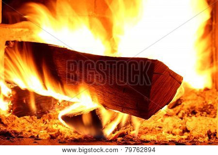 Fire Wood Is Burning