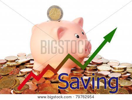 Diagram Upwards Saving With Piggy Bank
