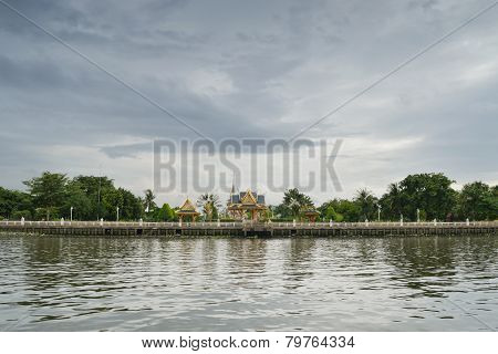 Temple On The Riverside In Bangkok
