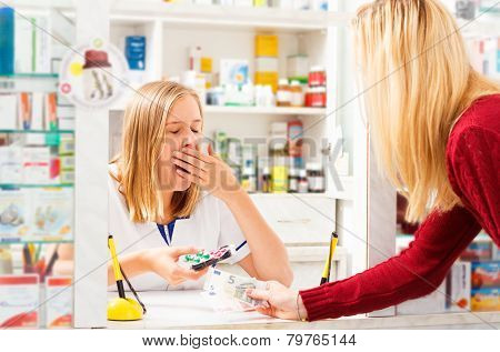 Pharmacist Bored of Her Work