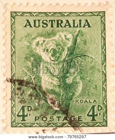Australian postage stamp - Koala.