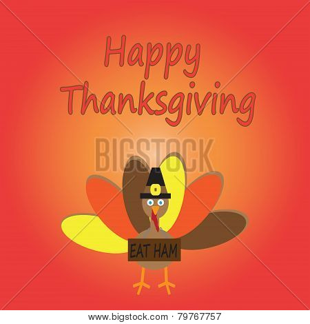 Happy Thanksgiving Cartoon Turkey