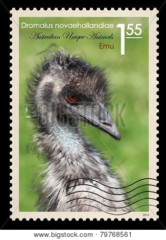 Post Stamp. Emu