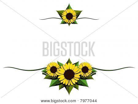 Sunflower cartoon ornaments