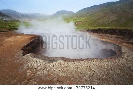 Geothermal Source in Hveragerdi, Iceland
