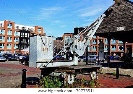Dock yard crane, Gloucester.