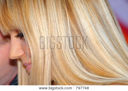 blond golden hair