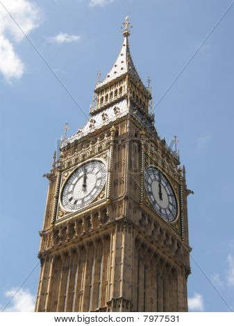 Big Ben on the stroke of twelve